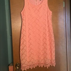 Alfani cantaloupe colored lace plus dress
